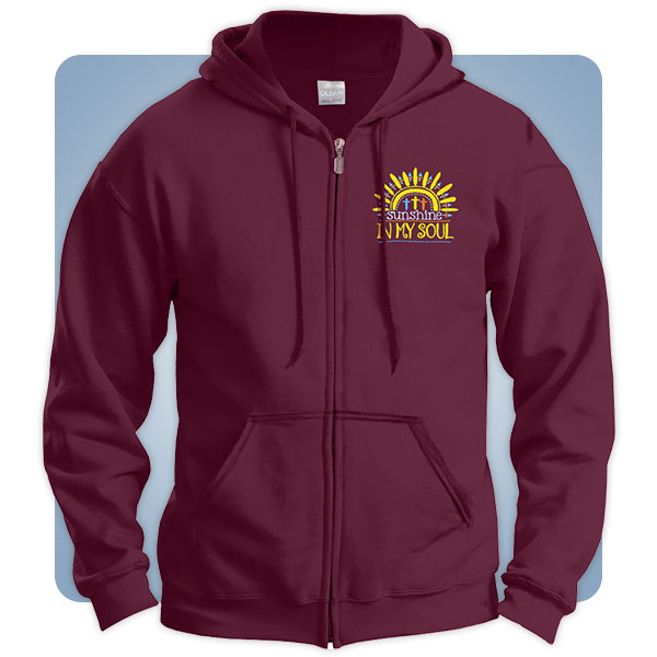 Sunshine in My Soul Christian Zip Hoodies