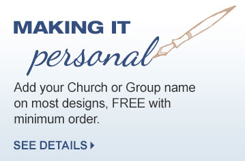 Free Personalization with your church name on most shirts